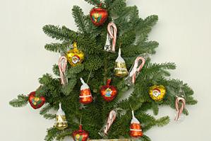 12月のレッスン-2 モミのクリスマスツリー風壁掛け
