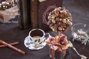 木の実アレンジコーヒービーンズトピアリー