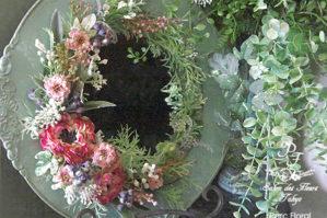 アーティフィシャルフラワーで彩った花鏡