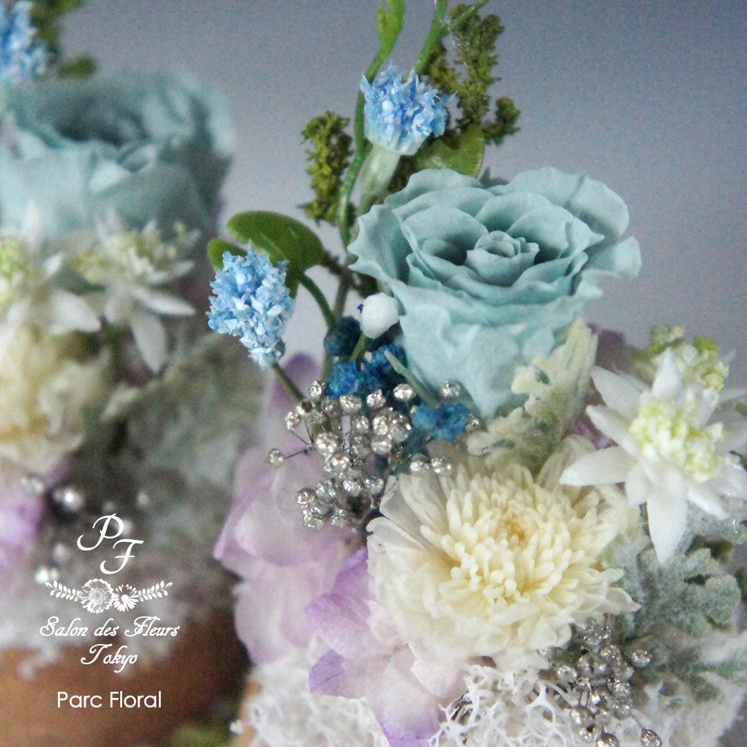 プリザーブドフラワーのお供えの花