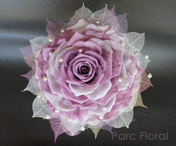 プリザーブドフラワーで作った華やかなローズメリアのブーケ